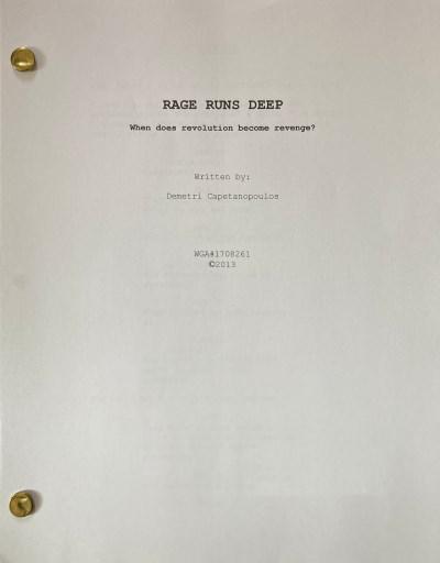 Rage Runs Deep Script